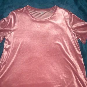 Old navy pink velvet blouse.
